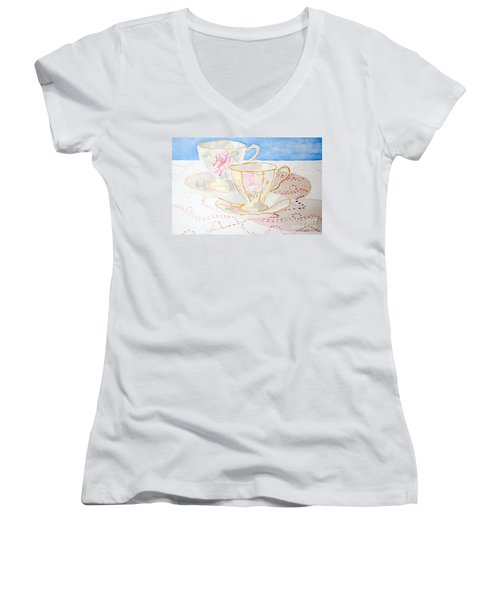 Two For Tea Women's V-Neck (Athletic Fit)