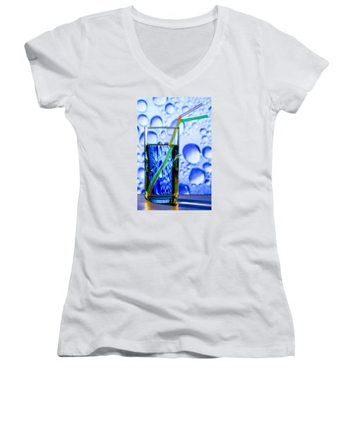 Two In Bubbles Women's V-Neck T-Shirt