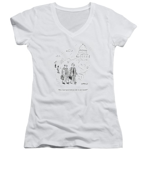 Two Politicians Speak To Each Other. The Capitol Women's V-Neck