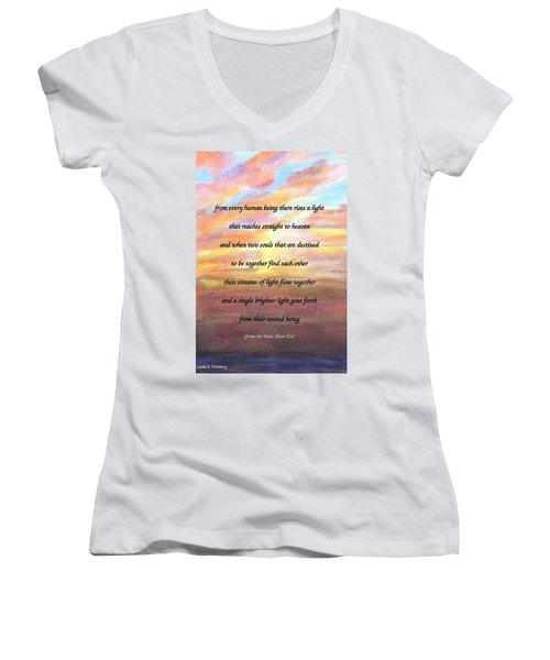 Two Souls Destined To Be Together Women's V-Neck (Athletic Fit)