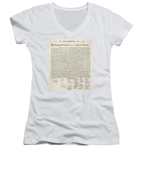 United States Bill Of Rights Women's V-Neck (Athletic Fit)