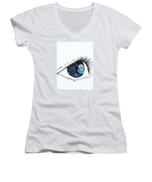 Universal Eye Women's V-Neck T-Shirt