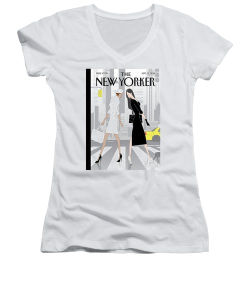Crosswalk Women's V-Neck