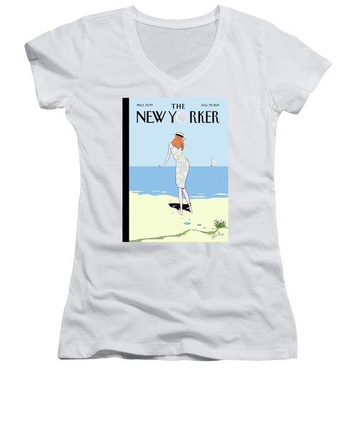 New Yorker August 29th, 2011 Women's V-Neck