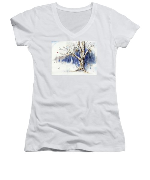 Untitled Winter Tree Women's V-Neck (Athletic Fit)