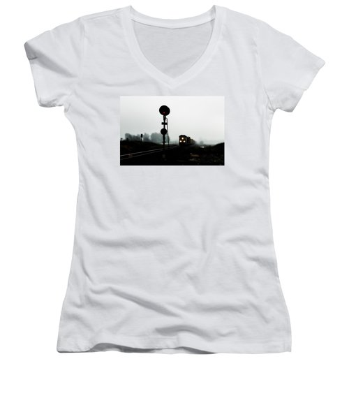 Women's V-Neck featuring the photograph Up 8057 by Jim Thompson