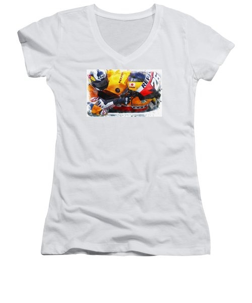 Up Close Women's V-Neck (Athletic Fit)