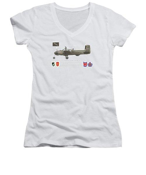 U.s. Army Ru-8d 138th Women's V-Neck T-Shirt