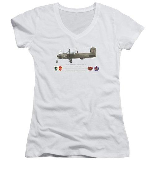 U.s. Army Ru-8d 146th Women's V-Neck T-Shirt