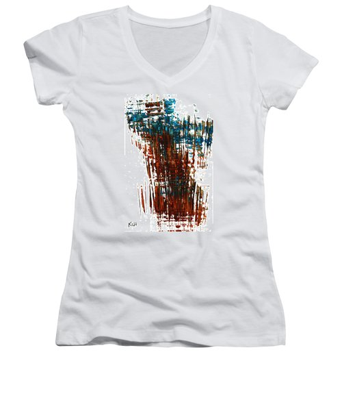 Us In The Divine 264.111011 Women's V-Neck T-Shirt (Junior Cut) by Kris Haas