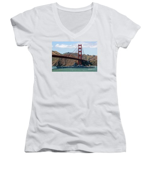 U.s.s. Iowa Up Close Women's V-Neck (Athletic Fit)