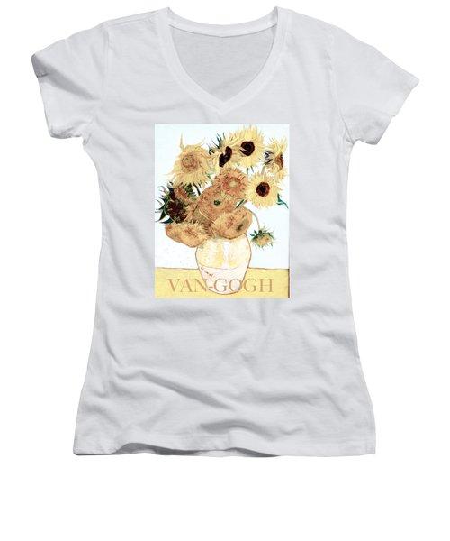 Van-gogh Sunflowers Women's V-Neck