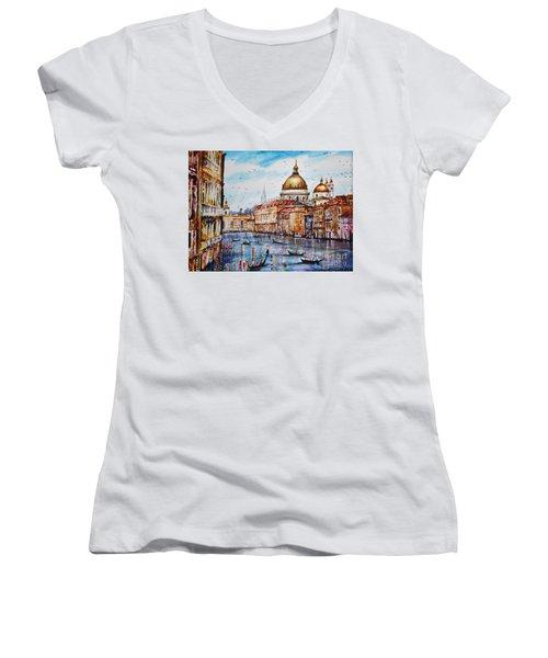 Venetian Paradise Women's V-Neck T-Shirt