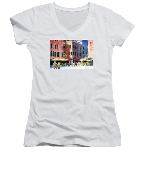 Venetian Piazza Women's V-Neck T-Shirt