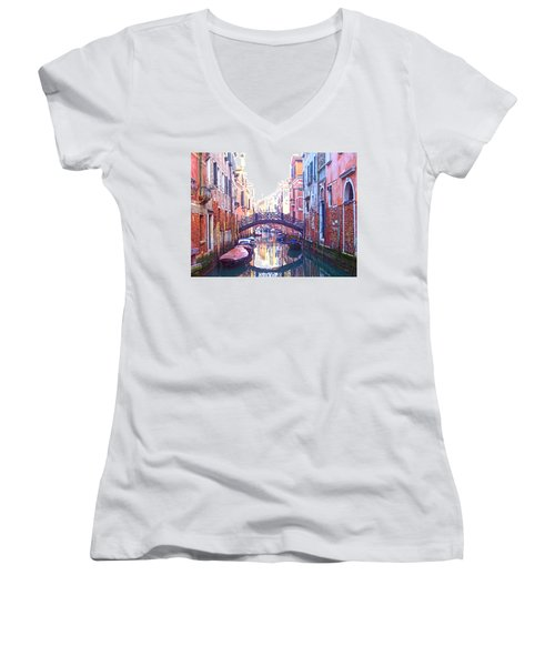 Venetian Reflections Women's V-Neck T-Shirt