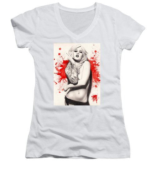 Vermillion Women's V-Neck T-Shirt