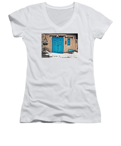 Very Blue Door Women's V-Neck (Athletic Fit)