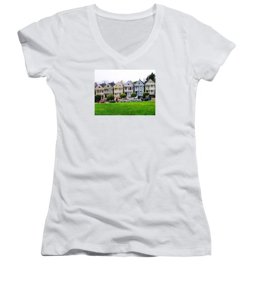 San Francisco Architecture Women's V-Neck (Athletic Fit)