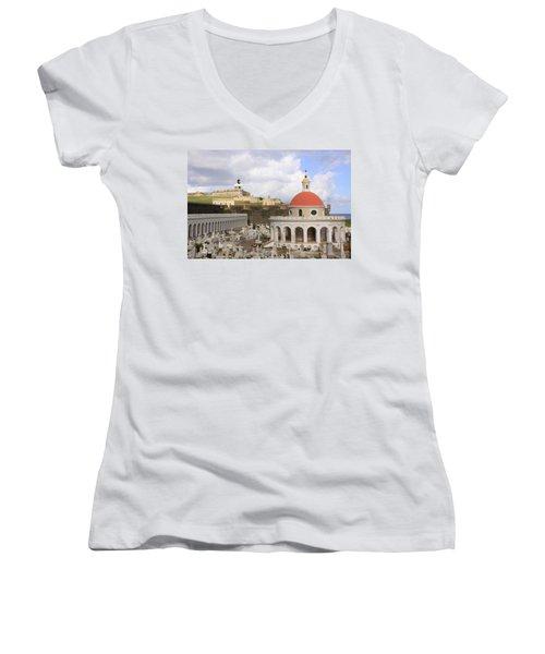 Viejo San Juan Women's V-Neck T-Shirt