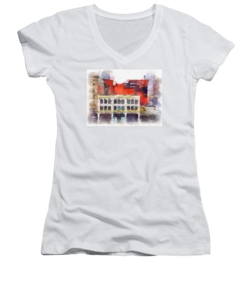View From A New York Window Women's V-Neck