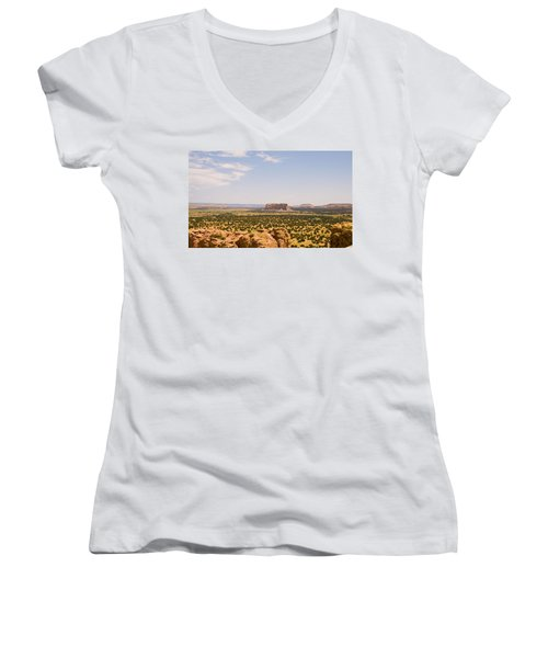 View From Acoma Mesa Women's V-Neck T-Shirt