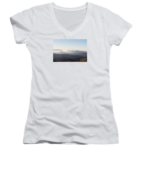 View From Blood Mountain Women's V-Neck T-Shirt (Junior Cut)