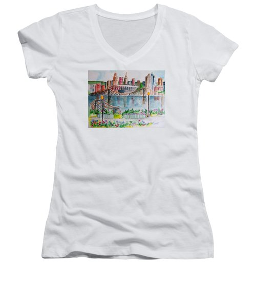 View From Devou Women's V-Neck T-Shirt