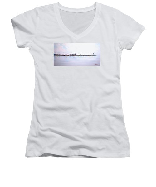 View From The Hudson Women's V-Neck