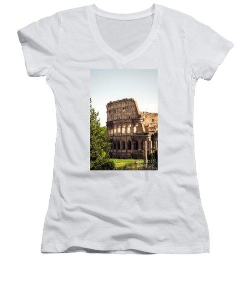 View Of Colosseum Women's V-Neck
