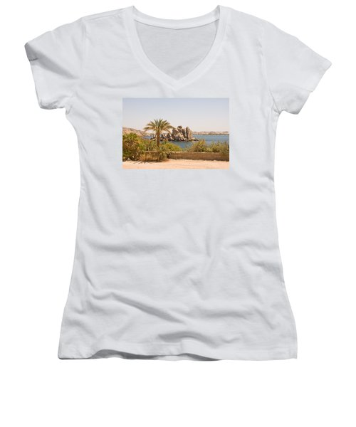 View Of Lake Women's V-Neck (Athletic Fit)