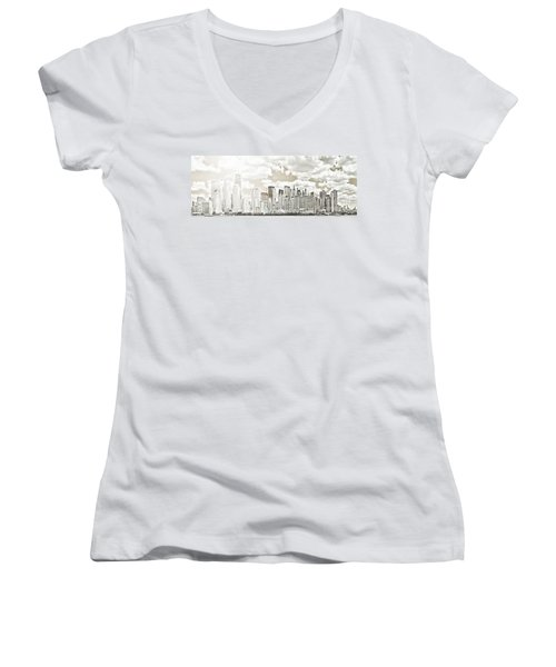 Women's V-Neck T-Shirt (Junior Cut) featuring the photograph Visions In My Mind by Janie Johnson