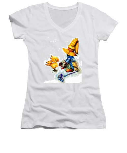 Vivi And The Chocobo Women's V-Neck (Athletic Fit)