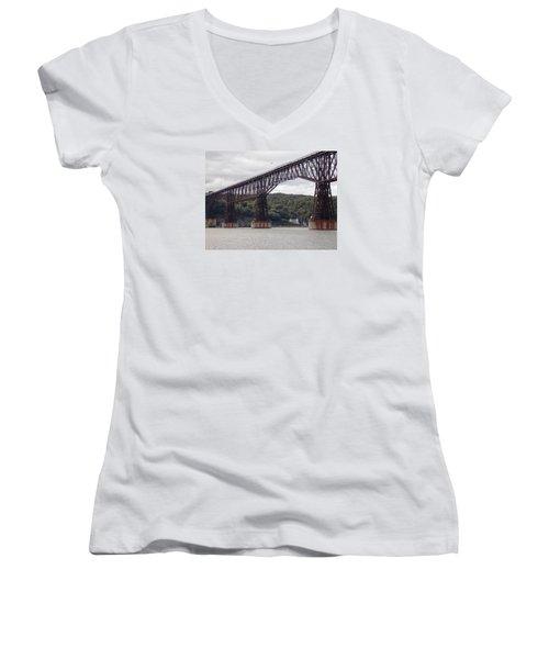 Walkway Over The Hudson Women's V-Neck T-Shirt