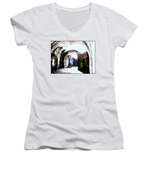 War At Fort Pickens Women's V-Neck T-Shirt