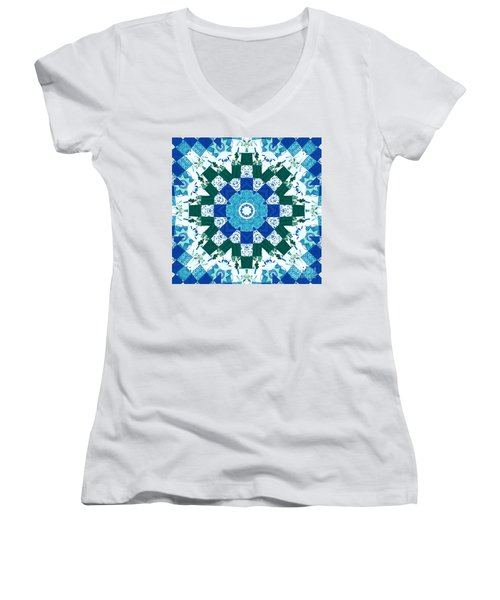 Watercolor Quilt Women's V-Neck (Athletic Fit)