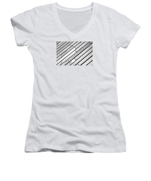 Watermarked 3 Women's V-Neck T-Shirt (Junior Cut) by Wendy Wilton