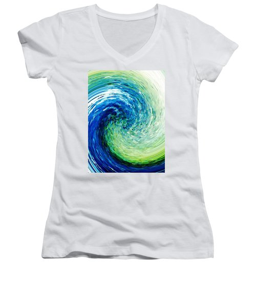 Wave To Van Gogh Women's V-Neck