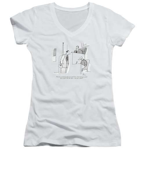 We Have Testimony That You Walk Like A Duck Women's V-Neck