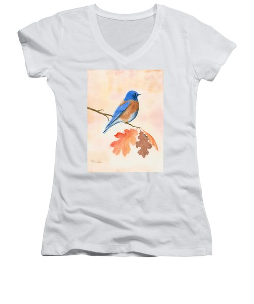 Western Bluebird Women's V-Neck (Athletic Fit)