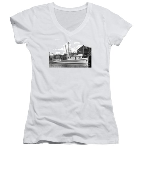 Western Flyer Purse Seiner Tacoma Washington State March 1937 Women's V-Neck