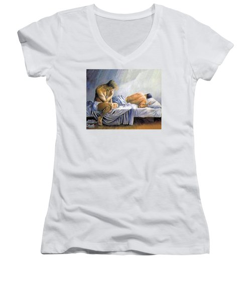 What Is He Dreaming Women's V-Neck