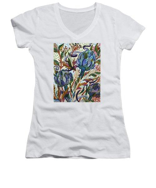Where Clover Grows Women's V-Neck T-Shirt