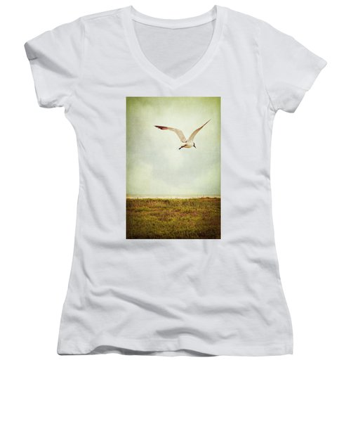 Where To Go? Women's V-Neck T-Shirt (Junior Cut) by Trish Mistric