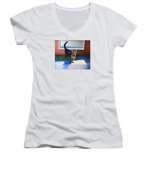 Where's Breakfast? Women's V-Neck T-Shirt