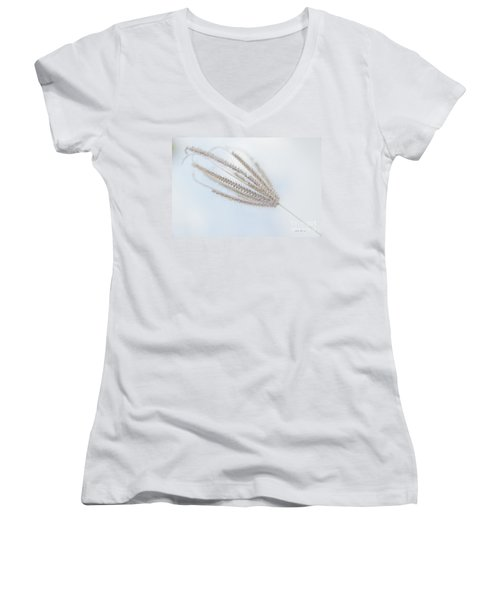 Women's V-Neck T-Shirt (Junior Cut) featuring the photograph Whispering Weed by Vicki Ferrari