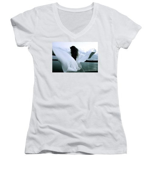 White Angel Women's V-Neck