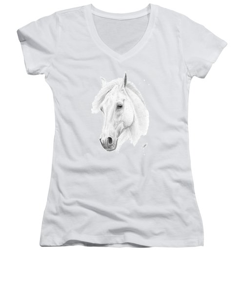 White Horse Women's V-Neck T-Shirt