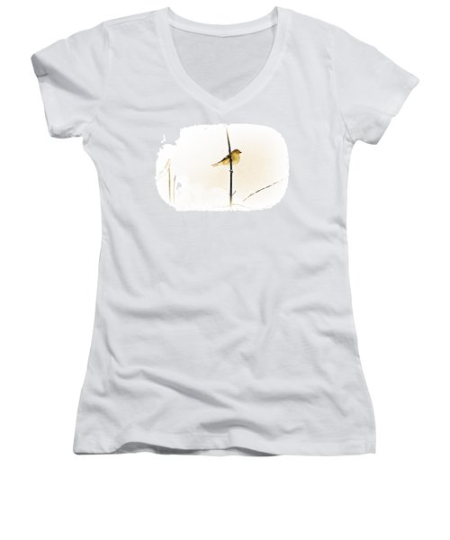 White Out Conditions Women's V-Neck (Athletic Fit)
