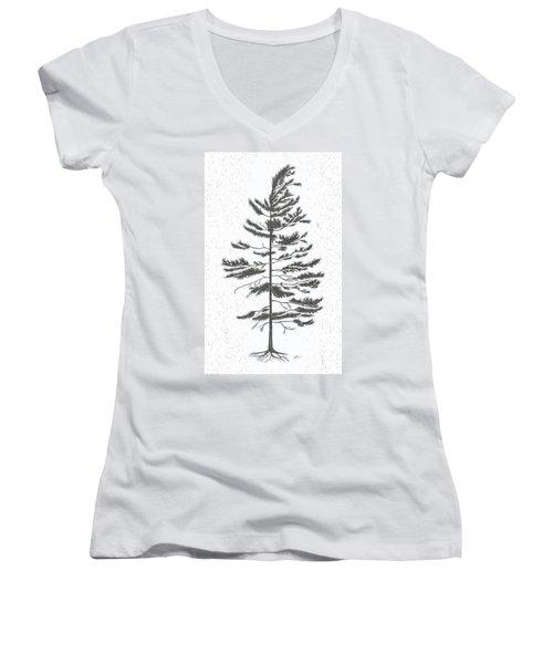 White Pine Women's V-Neck (Athletic Fit)
