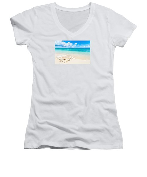 White Sand Women's V-Neck T-Shirt